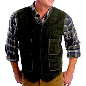 WOOLRICH pinstripe railroad inspired utility vest